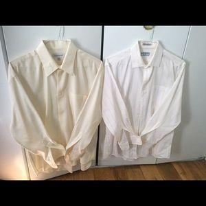 2 Yves Saint Laurent dress shirts